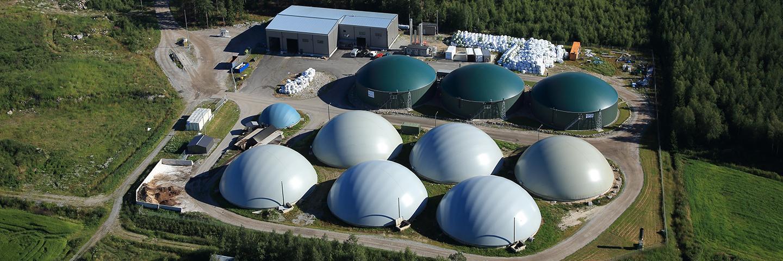 Ilmakuva Jepuan Biokaasun tuotantolaitoksesta