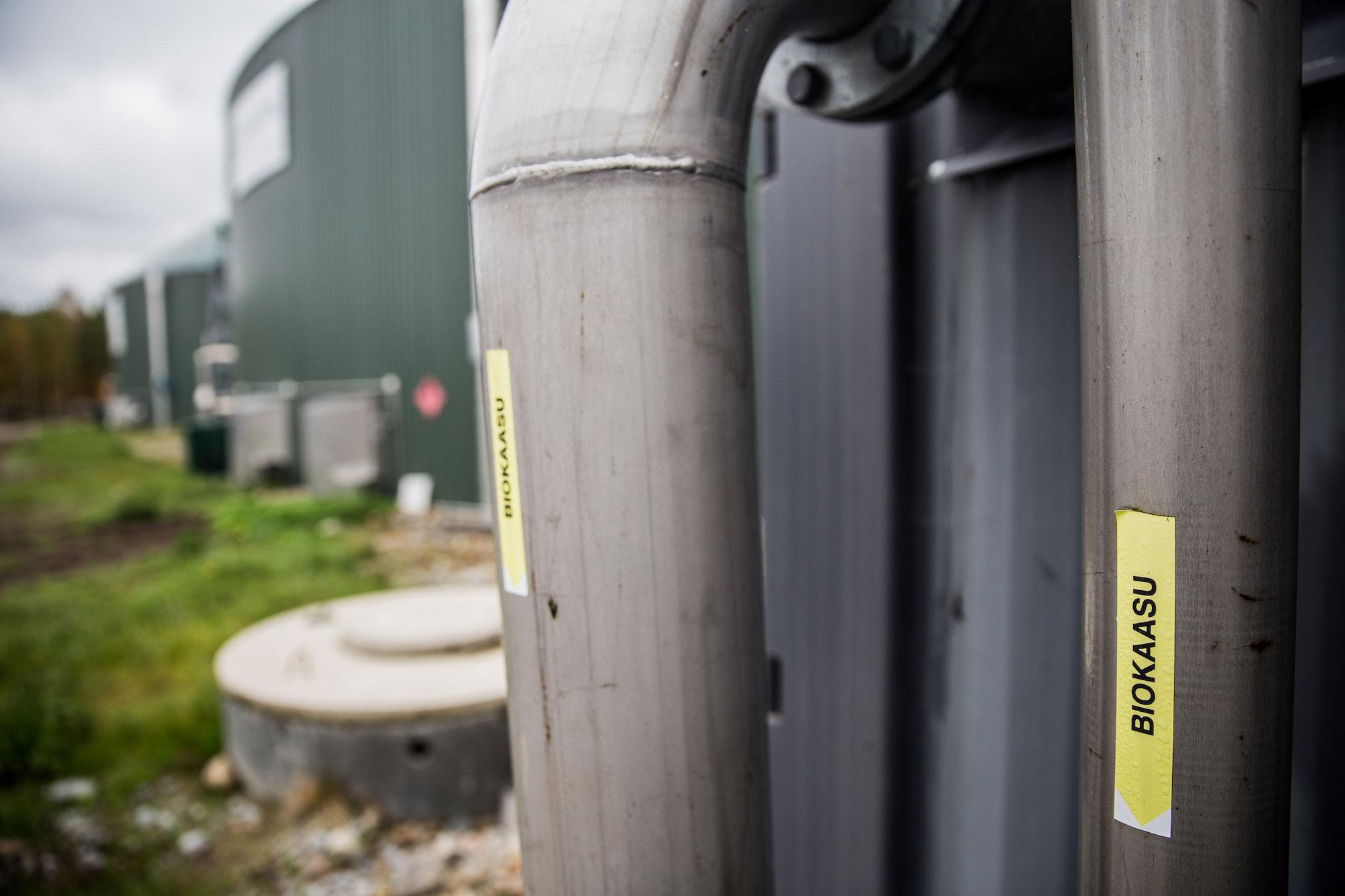 I Jeppo produceras biogas